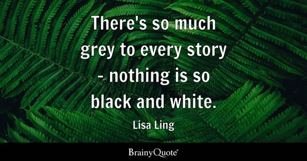 There's so much grey to every story - nothing is so black and white. - Lisa Ling