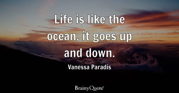 Life is like the ocean, it goes up and down. - Vanessa Paradis
